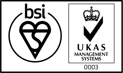 The British Standards Institution badge certifying SkillsForge for the United Kingdom's Accreditation Service for Mangement Systems